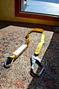 Safety Lanyard with Energy Absorber  6ft. Large hook , CE certified  NEW
