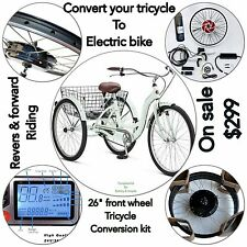"Trike Kit ,Electric Bike,48V 1000 W 26"" Front Wheel Kit ,Ebike Conversion Kit."
