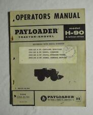 Frank G Hough Payloader Operators Manual Model H 90 1959 Form Om H 90