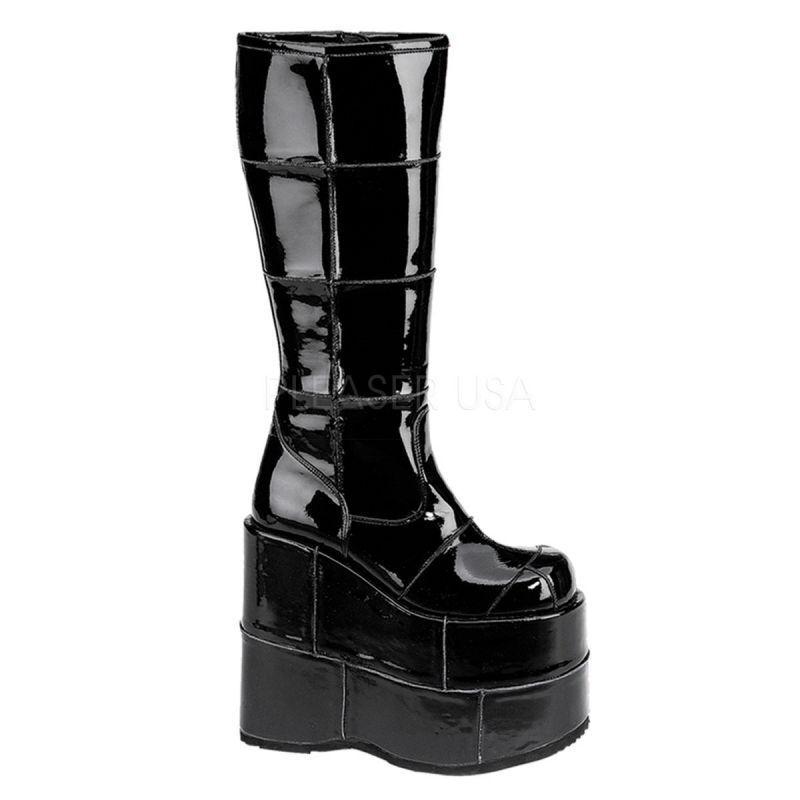 Demonia Stack - 301 extremamujerte extremamujerte extremamujerte botas de plataforma negro charol góticos punk Cyber Gogo Hot  echa un vistazo a los más baratos