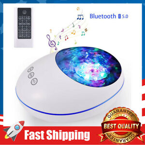 Ocean Wave Undersea Projector Lamp 12 LED 8 Color Changing Music Player