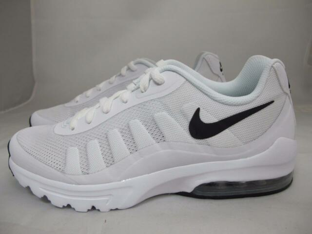 9803cae162818 Nike Air Max Invigor Mens 749680-100 White Black Mesh Running Shoes ...