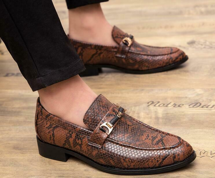 2019 New Mens  Crocodile Pattern Leather Loafers Business Dress shoes oxfords Sz