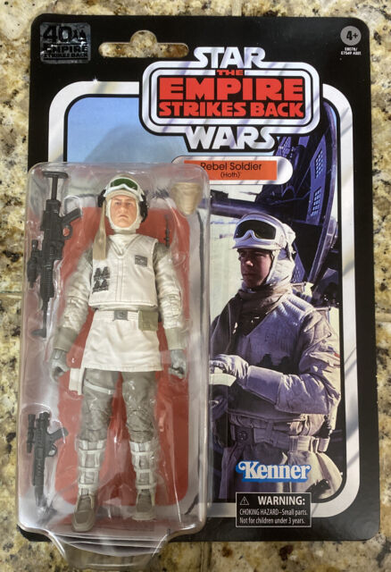 Star Wars 40th Anniversary Black Hoth Rebel Soldier Action Figure