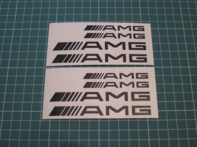 Set of 8 AMG Decal sticker vinyl caliper brake custom white/black/red