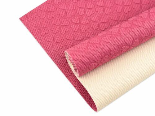 L Albstoffe Keep Me Antirutsch-Matte Kleeblätter pink-meringa Gr 50 x 150cm