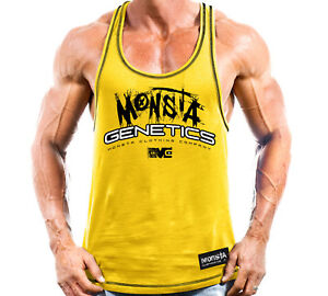 New-Mens-Monsta-Clothing-Fitness-Gym-Raerback-Genetics