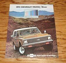 1972 Chevrolet Blazer Sales Brochure Truck 4x4 72 Chevy