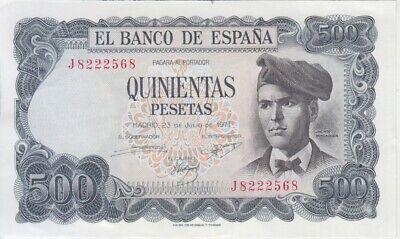 VF-EF We Combine Spain banknote P153 500 Pesetas 23.10.1979