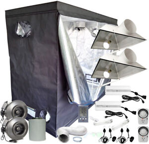 Details about 4x8 Grow Tent Setup 1000w/600w HPS/MH Grow Light, Duct Fan,  Carbon Filter 48x96