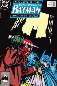 BATMAN Number 435 JULY 1989 THE MANY DEATHS OF BATMAN BYRNE APARO DeCARLO