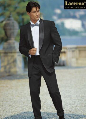Smoking Sakko Hose Anzug Lacerna Schwarz Schalkragen 24 28 46 90 Schurwolle