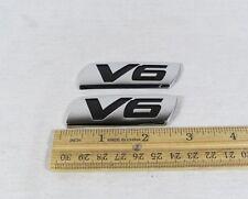 HONDA ACURA V6 EMBLEM SET FENDER/TRUNK GENUINE OEM CHROME BADGE logo sign symbol