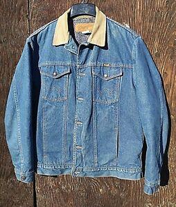 c214b544 Vintage Wrangler Blanket Lined Denim Jacket Large Made in USA