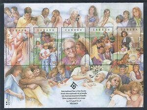 Canada-UN-International-Year-of-Family-1523-Souvenir-Sheet-MNH-Free-Shipping