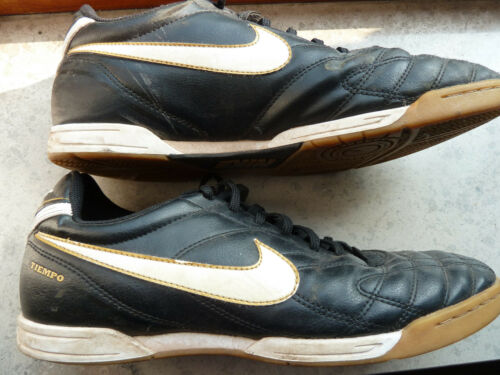 ORIGINALE Nike Tiempo tg. 44/US 10/28 cm NERO BLACK/WHITE BIANCO