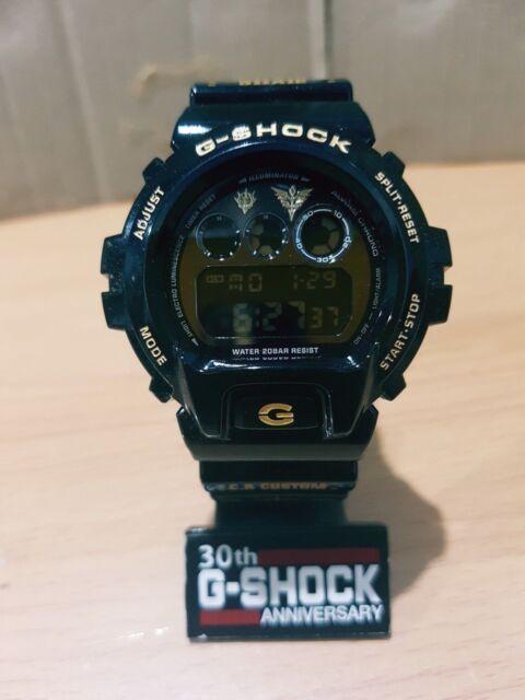 c282fde5d3f9 Vintage G-Shock DW-6900 Black Gold Zeon Char Gundam C.A Custom Negative  Screen