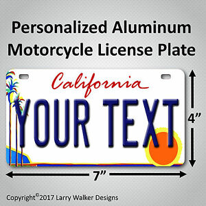 California-Palm-Any-Text-Custom-Personalized-State-Motorcycle-License-Plate-Tag