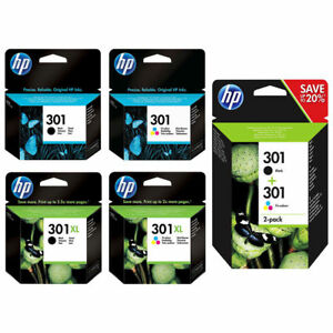 Original-HP-301-301XL-Black-amp-Colour-Ink-Cartridge-For-DeskJet-3054A-Printer