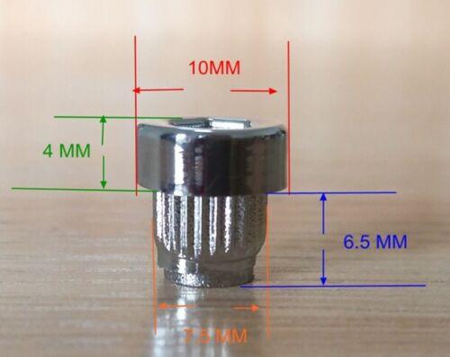 20 X plástico remaches tuercas de rueda cromo plateado labio aleaciones de reemplazo postes de Llanta J3