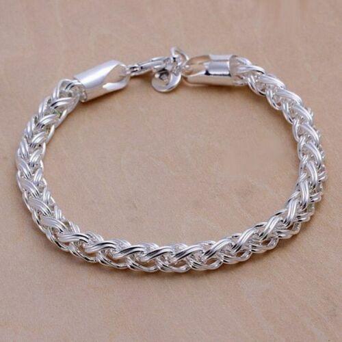 Los hombres señora pulsera plata 925 tanques cadena rey cadena masivamente 6 mm 4 mm unisex