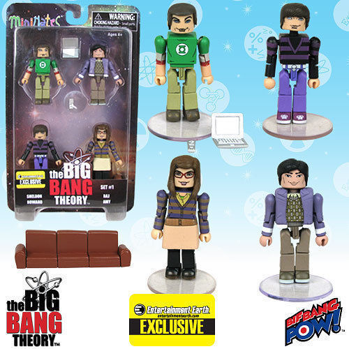 The Big Bang Theory and Minimates Sets 1 and Theory 2 - Entertainment Earth Exclusive 312456