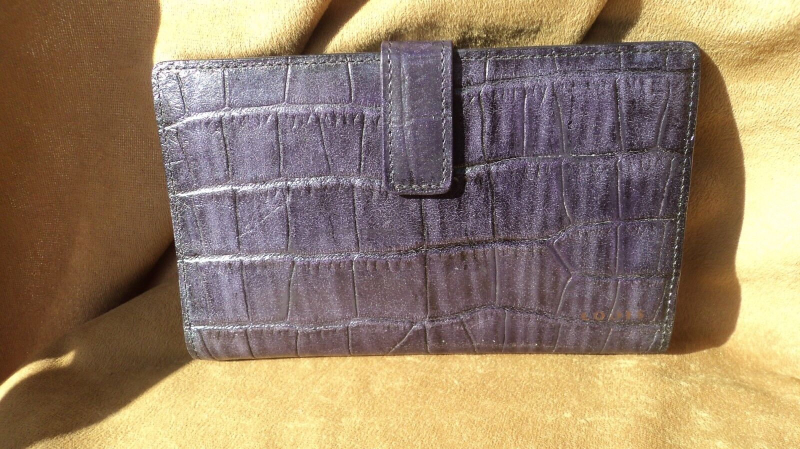 Lodis 345SH Blue Alligator Grain Leather Women's Wallet