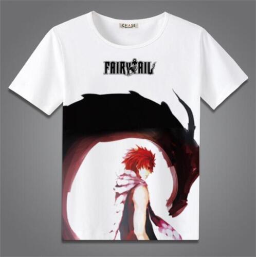 FAIRY TAIL Anime Leisure Cartoon Short Sleeve Womens//Mens Vest T-shirt Tee Gift