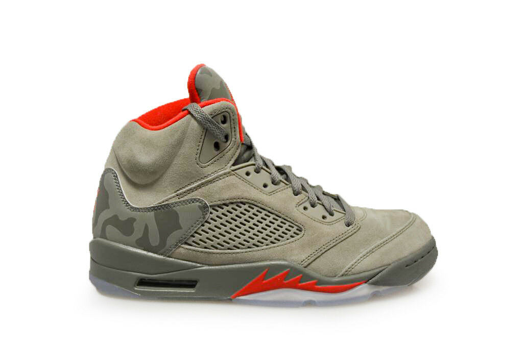 Uomo nike air jordan 5 '- 136027 051 - buio di stucco la river rock red formatori