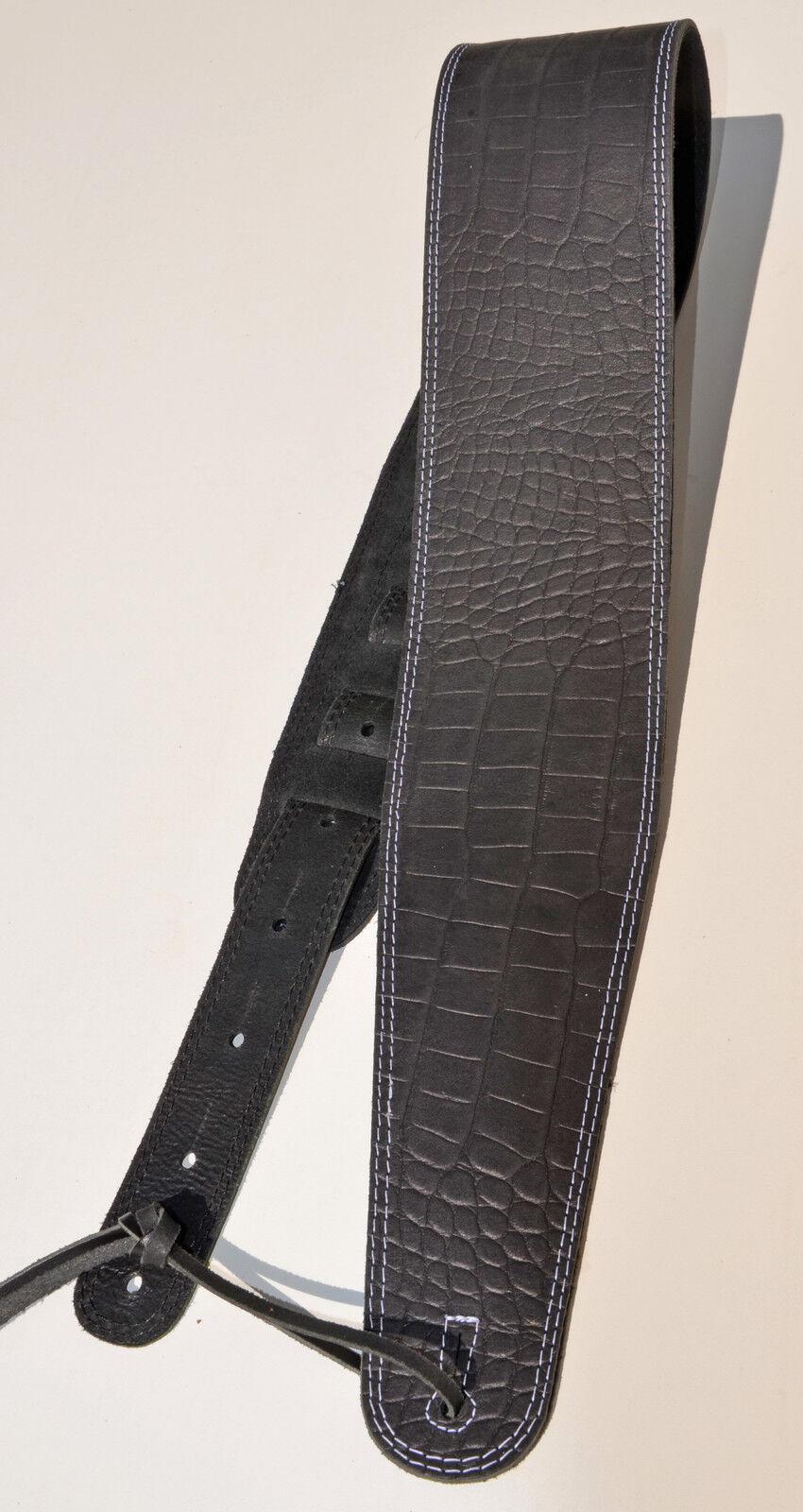 Bassgurt Gitarrengurt Blau Bud Factory Big Bro 10 cm breit Bass Guitar strap