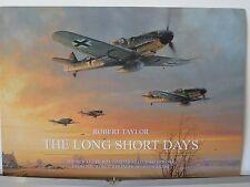 The Long Short Days Bf109Gs JG26 Aces Robert Taylor Aviation Art Brochure