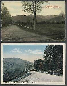 Shokan-Olive-NY-Two-c-1910s-Postcards-ASHOKAN-BOULEVARD-WITTENBERG-RANGE