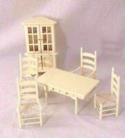 Kitchen / Dining Set Cream T5039 Dollhouse Miniature 6pc 1/12 Scale Furniture