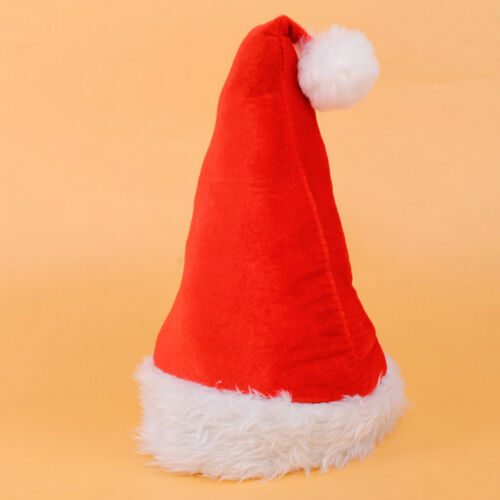 Christmas Cap Thick Ultra Soft Plush Santa Claus Holiday Fancy Dress Hat
