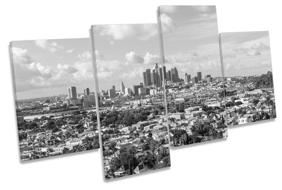 Los Angeles Stadt Skyline MULTI CANVAS Wand Kunst Bild Drucken