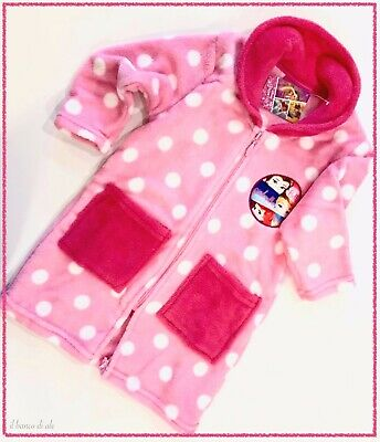 SUN CITY Vestaglia Bambina 3//8 Anni in Caldo Pile a Cuori Disney Minnie con Zip 7239