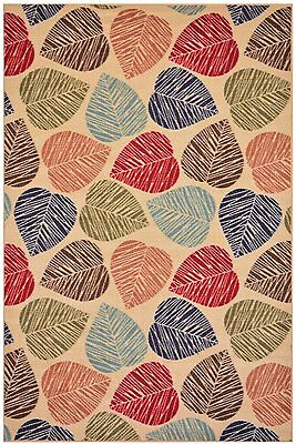 """Antibacterial Floral Veronica Red Non Slip Latex Backing Runner Rug 3/'3/"""" x 5/'"""
