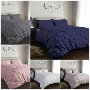 Pintuck-Pleated-Duvet-Cover-bedding-Set-with-Pillowcases-Single-Double-King-Size