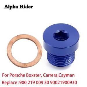 Oil Drain Plug + Gasket For Porsche Cayenne 911 Panamera 718 Boxster Cayman