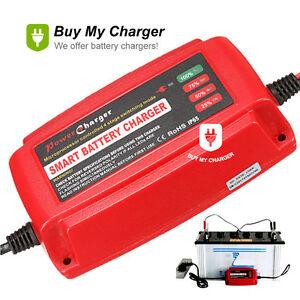 meet 538d3 389d1 Details about 12V 5A Smart Waterproof Car Battery Charger&Desulfator for  Lead Acid AGM/GEL/WET