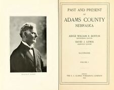 1916 ADAMS County Nebraska, NE, History & Genealogy Ancestry Family Tree DVD B09