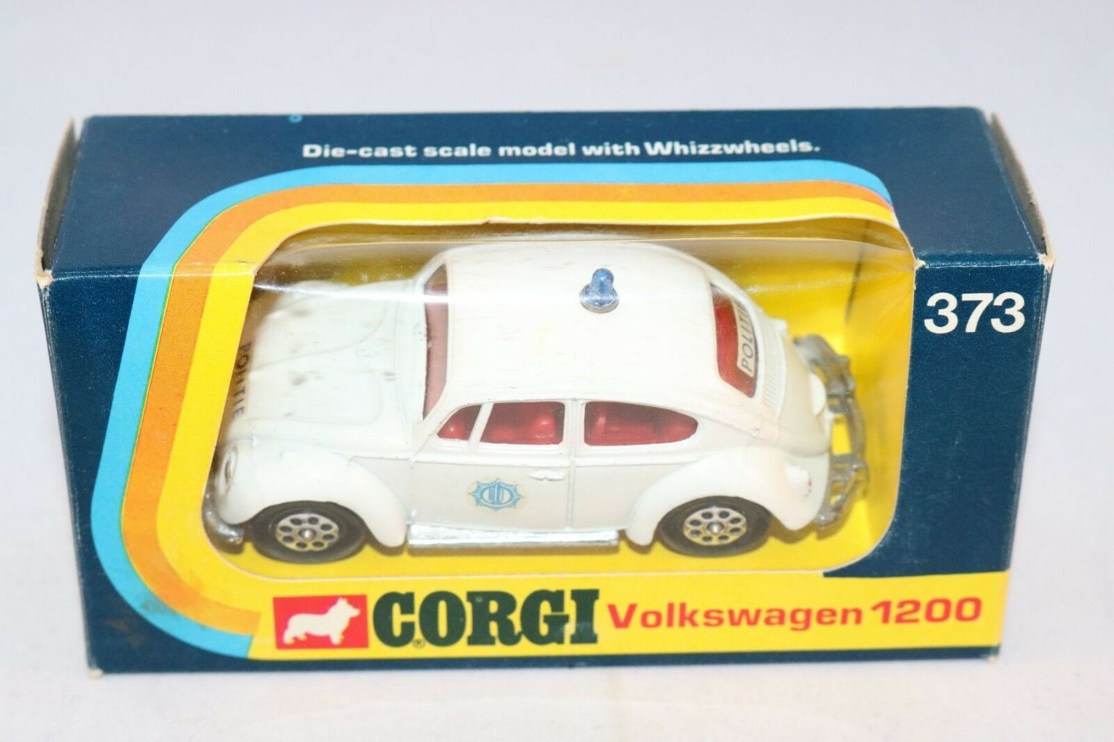 Corgi Toys 373 Volkswagen beetle Kafer EXPORT - POLITIE near mint in box Scarce