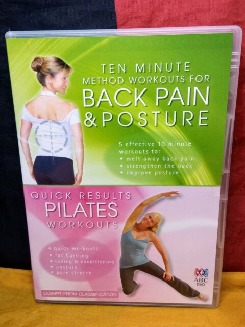 10 Min Workouts for Back Pain & Posture/ Quick Results Pilates Workouts (DVD)