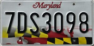 GENUINE-American-USA-Maryland-2016-Series-License-Licence-Number-Plate-7DS3098