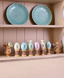 8-Pc-Bunny-Rabbit-amp-Egg-Figurine-Set-Easter-Holiday-Spring-Decoration-Home-Decor
