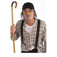 item 2 old man kit adult halloween costume accessory hat moustache eyebrows glasses old man kit adult halloween costume accessory hat moustache