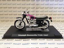 MOTO IXO TRIUMPH BONNEVILLE T120 1967 1/24 EME NEUF EN BOITE  PLEXIGLAS
