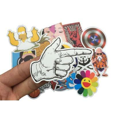 LOT 50pcs Skateboard Sticker Skate Laptop Luggage Car Bomb Vinyl Decal