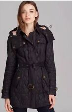 Womens Burberry Brit Finsbridge Belted Quilted Jacket Xsmall In Stock NWT