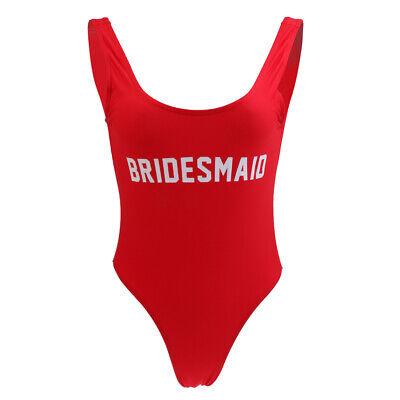 One Piece Swimsuit High Cut Low Back Wedding Hens Bridesmaid Bikini Monokini